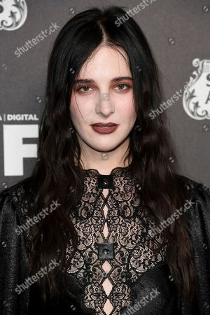 Hari Nef attends the 13th Annual Women In Film Female Oscar Nominees Party at Sunset Room Hollywood, in Los Angeles