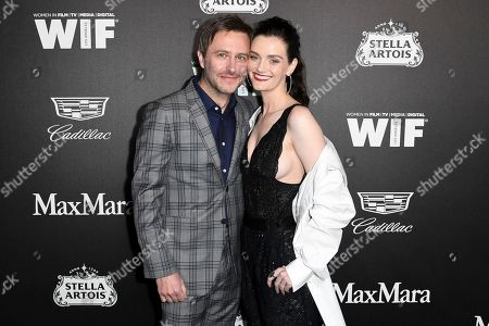Chris Hardwick, Lydia Hearst-Shaw. Chris Hardwick, left, and Lydia Hearst-Shaw attend the 13th Annual Women In Film Female Oscar Nominees Party at Sunset Room Hollywood, in Los Angeles