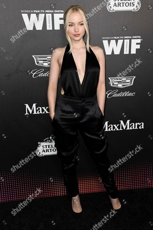 Dove Cameron attends the 13th Annual Women In Film Female Oscar Nominees Party at Sunset Room Hollywood, in Los Angeles