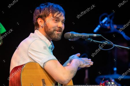 Editorial photo of Shakey Graves in concert at Stateside at the Paramount, Austin, Texas, USA - 07 Feb 2020
