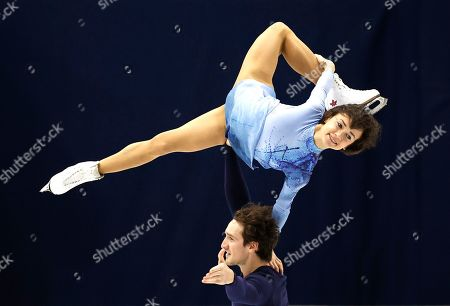 Canada's Liubov Ilyushechkina and Charlie Bilodeau perform during the pairs free skating competition in the ISU Four Continents Figure Skating Championships in Seoul, South Korea