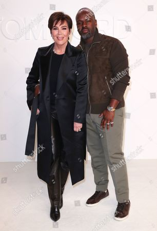 Stock Image of Kris Jenner and Corey Gamble