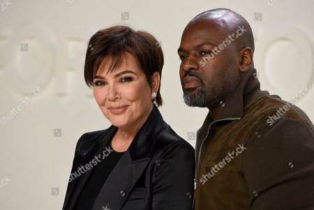 Kris Jenner, Corey Gamble. Kris Jenner and Corey Gamble attend the Tom Ford show at Milk Studios during NYFW Fall/Winter 2020, in Los Angeles