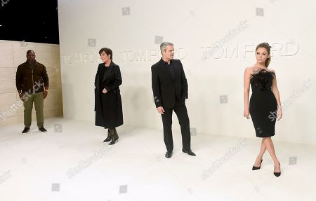 Kris Jenner, Corey Gamble, Billie Lourd, Andy Cohen. From left, and Corey Gamble, Kris Jenner, Andy Cohen, and Billie Lourd attend the Tom Ford show at Milk Studios during NYFW Fall/Winter 2020, in Los Angeles