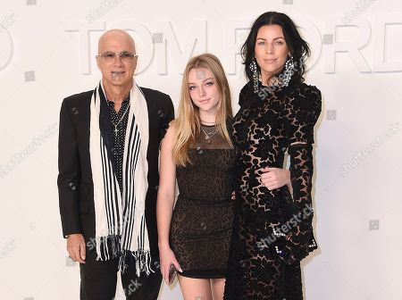 Jimmy Iovine, Skyla Sanders, Liberty Ross. Jimmy Iovine, Skyla Sanders, and Liberty Ross attend the Tom Ford show at Milk Studios during NYFW Fall/Winter 2020, in Los Angeles