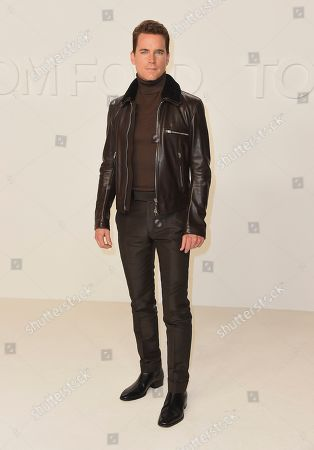 Matt Bomer attends the Tom Ford show at Milk Studios during NYFW Fall/Winter 2020, in Los Angeles
