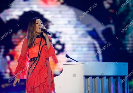 Stock Image of Eurovision 2016 runner up Dami Im from Australia performs during the 2020 Eurovision - Australia Decides final at the Gold Coast Convention and Exhibition Centre on the Gold Coast, Queensland, Australia, 08 February 2020. The Eurovision Song Contest (ESC) 2020, the 65th edition of the event, is held from 12 to 16 May 2020 in the city of Rotterdam, The Netherlands. Australia, where the ESC is very popular since 1974, sent its first participant for the ESC's 60th jubilee event in 2015.