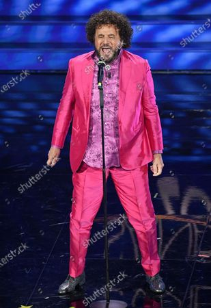 Christian De Sica performs on stage at the Ariston theatre during the 70th Sanremo Italian Song Festival, Sanremo, Italy, 08 February 2020. The festival runs from 04 to 08 February.