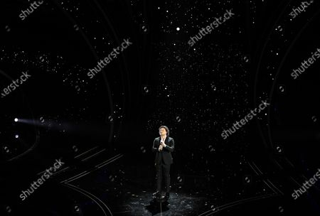 Italian tenor Vittorio Grigolo performs on stage at the Ariston theatre during the 70th Sanremo Italian Song Festival, in Sanremo, Italy, 08 February 2020. The festival runs from 04 to 08 February.