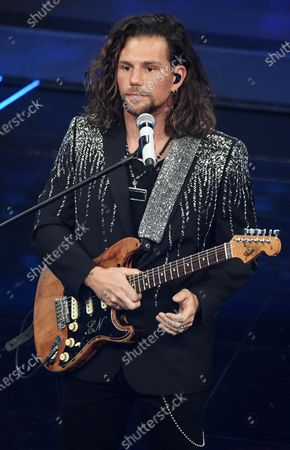 Enrico Nigiotti performs on stage at the Ariston theatre during the 70th Sanremo Italian Song Festival, Sanremo, Italy, 08 February 2020. The festival runs from 04 to 08 February.