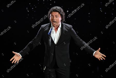 Italian tenor Vittorio Grigolo performs on stage at the Ariston theatre during the 70th Sanremo Italian Song Festival, Sanremo, Italy, 08 February 2020. The festival runs from 04 to 08 February.