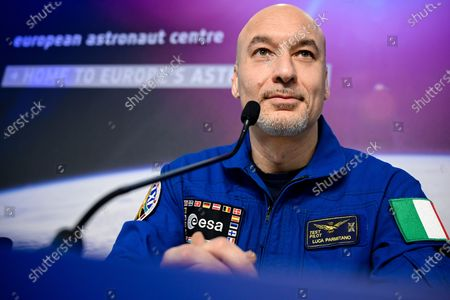 Italian ESA astronaut Luca Parmitano speaks to the media during a press conference at the European Space Agency (ESA) / European Astronaut Centre (EAC) in Cologne, Germany, 08 February 2020. Parmitano, along with NASA US astronaut Christina Koch and Russian cosmonaut Alexander Skvortsov of Roscosmos, returned from the International Space Station (ISS) mission on 06 February 2020.