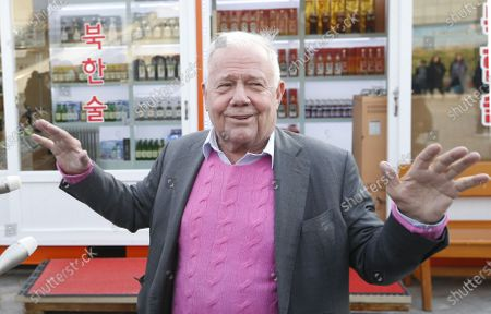 US businessman and investor Jim Rogers gestures during an interview during a visit at the Goseong Unification Observatory near the Demilitarized Zone (DMZ) in the northeastern border town of Goseong, Gangwon province, South Korea, 08 February 2020. Singapore-based investor Jim Rogers is set to attend the PyeongChang Peace Forum 2020 titled 'Peace! Here and Now' at the PyeongChang Alpensia Convention Center from 09 to 11 February 2020.