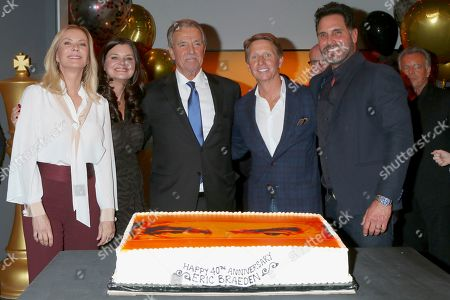 Katherine Kelly Lang, Heather Tom, Eric Braeden, Bradley Bell, and Don Diamont