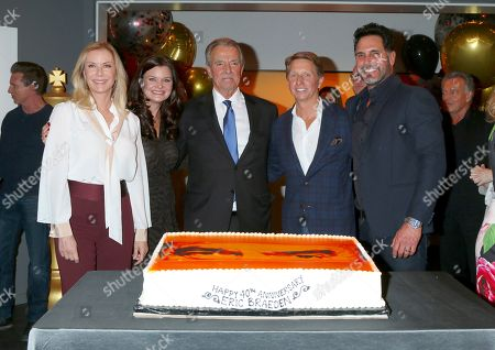 Stock Photo of Katherine Kelly Lang, Heather Tom, Eric Braeden, Bradley Bell, and Don Diamont