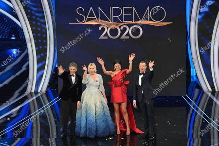 Fiorello, Antonella Clerici, Francesca Sofia Novello and Amadeus