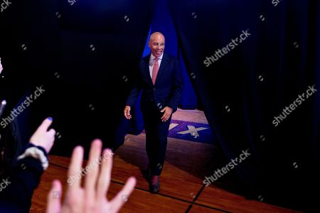 """Democratic presidential candidate former Massachusetts Gov. Deval Patrick arrives to speaks at """"Our Rights, Our Courts"""" forum New Hampshire Technical Institute's Concord Community College, in Concord, N.H"""