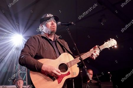 Toby Keith performs at the half time Volunteer party on the second day of the AT&T Pro-Am PGA Golf event at Pebble Beach