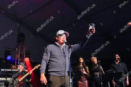 Clay Walker, country and western star, performs at the half time Volunteer party on the second day of the AT&T Pro-Am PGA Golf event at Pebble Beach