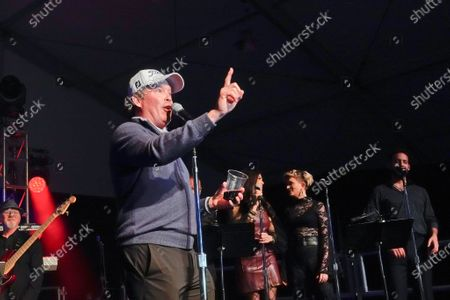 Clay Walker, country and western star, perform sat the half time Volunteer party on the second day of the AT&T Pro-Am PGA Golf event at Pebble Beach
