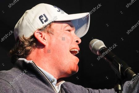Stock Image of Clay Walker, country and western star, performs at the half time Volunteer party on the second day of the AT&T Pro-Am PGA Golf event at Pebble Beach