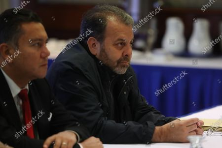 Stock Picture of Members of the Venezuelan opposition Timoteo Zambrano (R) and Javier Bertucci (L) attend a meeting with former Spanish Prime Minister Jose Luis Rodriguez Zapatero, in Caracas, Venezuela, 8 February 2020. Zapatero met on 07 February with Venezuelan president, Nicolas Maduro, at Miraflores Palace.