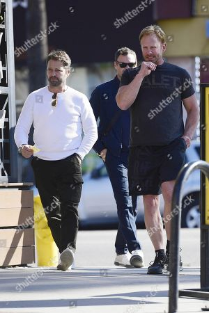 Jason Priestley, Brian Austin Green and Ian Ziering out filming
