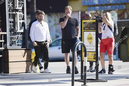 Jason Priestley and Ian Ziering out filming