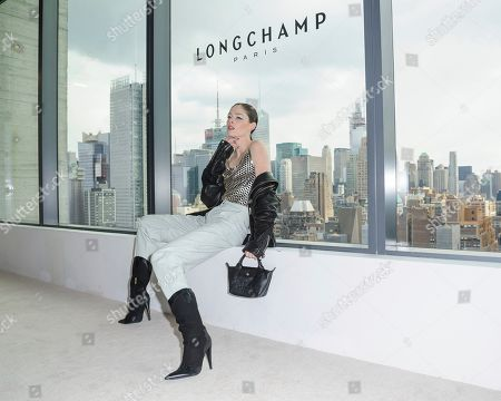 Coco Rocha attends NYFW Fall/Winter 2020 - Longchamp at Hudson Commons, in New York
