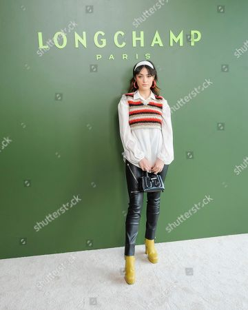 Stock Photo of Luna Blaise attends NYFW Fall/Winter 2020 - Longchamp at Hudson Commons, in New York