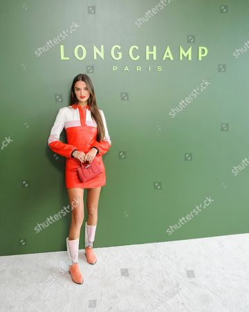 Gabrielle Caunesil Pozzoli attends NYFW Fall/Winter 2020 - Longchamp at Hudson Commons, in New York