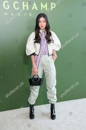 Stock Photo of Juwei Teoh attends NYFW Fall/Winter 2020 - Longchamp at Hudson Commons, in New York