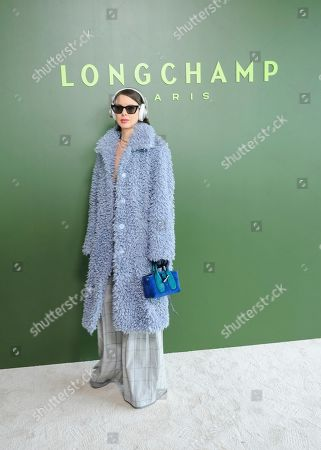 Stock Picture of Marina Ingvarsson attends NYFW Fall/Winter 2020 - Longchamp at Hudson Commons, in New York