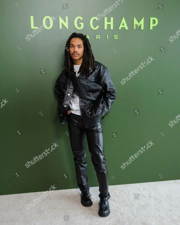 Luka Sabbat attends NYFW Fall/Winter 2020 - Longchamp at Hudson Commons, in New York