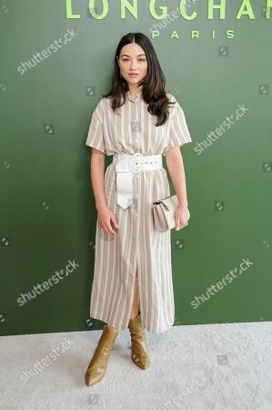 Crystal Reed attends NYFW Fall/Winter 2020 - Longchamp at Hudson Commons, in New York