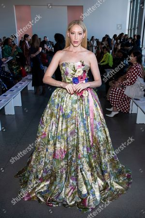 Julie Mintz attends the Badgley Mischka fashion show at Spring Studios during NYFW Fall/Winter 2020 on in New York