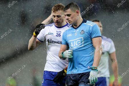 Stock Picture of Dublin vs Monaghan. Monaghan's Phillip Donnelly and Brian Howard of Dublin after the game