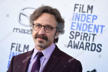 Marc Maron arrives at the 35th Film Independent Spirit Awards, in Santa Monica, Calif