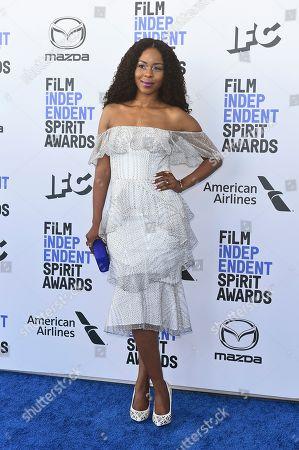 Danielle Mone Truitt arrives at the 35th Film Independent Spirit Awards, in Santa Monica, Calif