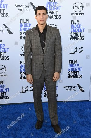 Stock Photo of Danny Ramirez arrives at the 35th Film Independent Spirit Awards, in Santa Monica, Calif