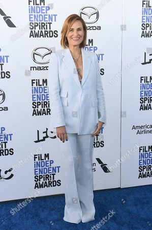 Judith Godreche arrives at the 35th Film Independent Spirit Awards, in Santa Monica, Calif