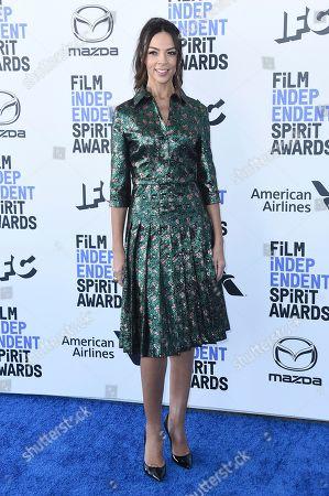 Terri Seymour arrives at the 35th Film Independent Spirit Awards, in Santa Monica, Calif