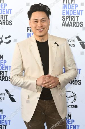 Jon M. Chu arrives at the 35th Film Independent Spirit Awards, in Santa Monica, Calif
