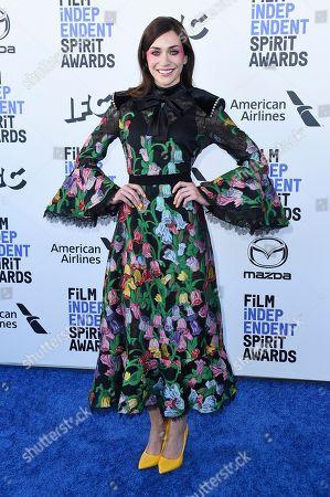 Stock Picture of Jocelyn DeBoer arrives at the 35th Film Independent Spirit Awards, in Santa Monica, Calif