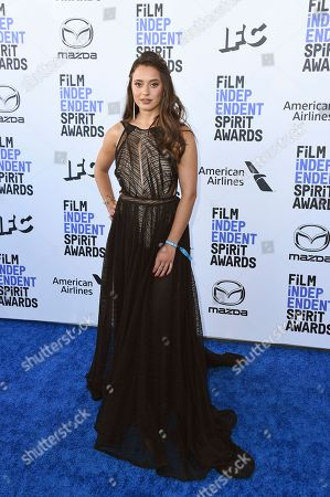 Stock Picture of Keana Marie arrives at the 35th Film Independent Spirit Awards, in Santa Monica, Calif