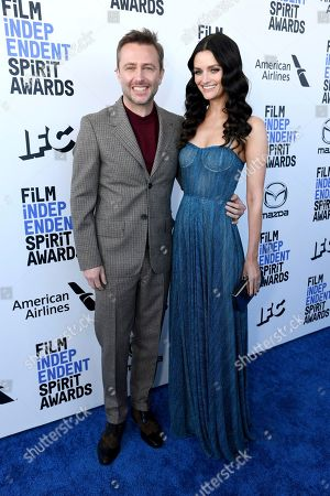 Chris Hardwick, Lydia Hearst. Chris Hardwick, left, and Lydia Hearst arrive at the 35th Film Independent Spirit Awards, in Santa Monica, Calif