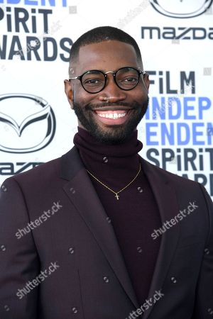 Tarell Alvin McCraney arrives at the 35th Film Independent Spirit Awards, in Santa Monica, Calif
