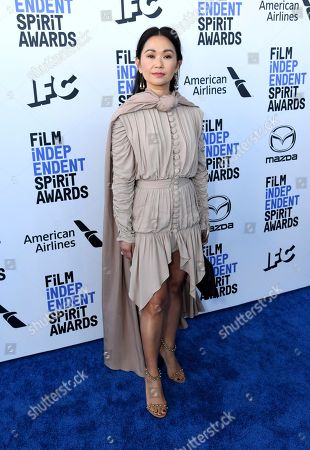 Stock Image of Hong Chau arrives at the 35th Film Independent Spirit Awards, in Santa Monica, Calif