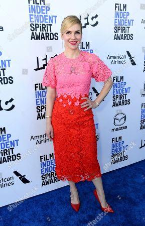June Diane Raphael arrives at the 35th Film Independent Spirit Awards, in Santa Monica, Calif