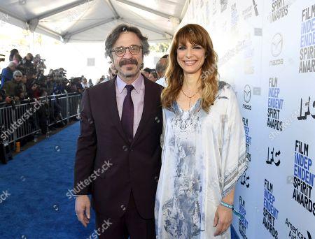 Marc Maron, Lynn Shelton. Marc Maron, left, and Lynn Shelton arrive at the 35th Film Independent Spirit Awards, in Santa Monica, Calif